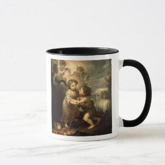 Die Säuglinge Christus und Johannes der Täufer Tasse