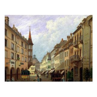 Die Säulengänge, großartige Rue, Colmar, 1876 Postkarte