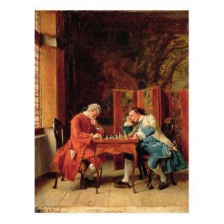 Die Schach-Spieler, 1856 Postkarte