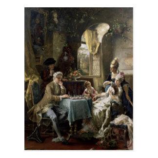 Die Schach-Spieler, 1887 2 Postkarte