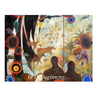 Die Schaffung der Welt, am Anfang… Postkarte