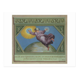 Die Schaffung des Lichtes, Illustration vom Rapha Postkarte