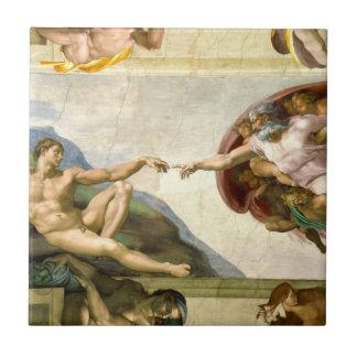 Die Schaffung von Adam durch Fliese