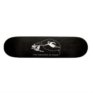 Die Schaffung von Adam (Gott) - Da Vinci 20,6 Cm Skateboard Deck