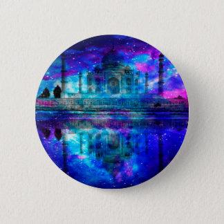 Die Schaffungs-Taj Mahal Träume des Liebhabers Runder Button 5,1 Cm