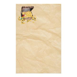 Die Schatztruhe des Piraten auf Windungs-Papier Briefpapier