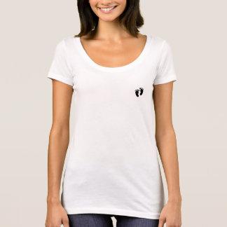 Die Schaufel-Hals-Abdruck-T - Shirt der Frauen