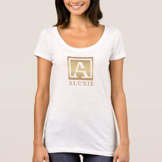 Die Schaufel-Hals-T - Shirt ALUXIE Frauen