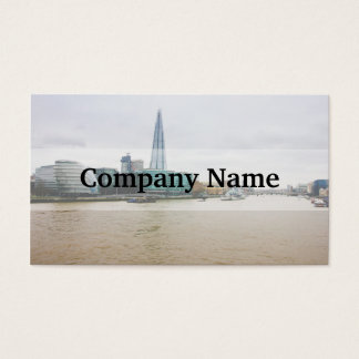 Die Scherbe und die Themse, London Großbritannien Visitenkarte