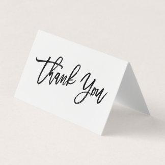 Die schicke beschriftete Hand danken Ihnen zu Karte