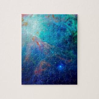 Die schimmernde NASA Blau Orions-Nebelflecks Puzzle
