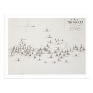 Die Schlacht von Trafalgar am 21. Oktober 1805 Postkarte