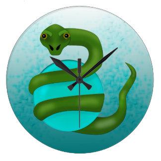Die Schlange Große Wanduhr
