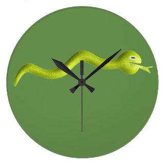 Die Schlangen-Uhr der Kinder Große Wanduhr