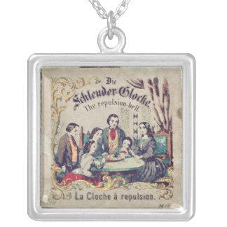 Die Schleuder Glocke - die Abstossungsglocke Halskette Mit Quadratischem Anhänger