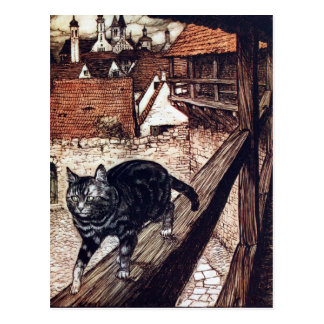 Die Schloss-Katze durch Rackham Postkarte