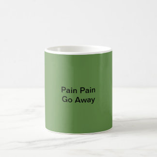 Die Schmerz-Schmerz gehen Faser Kaffee-Tasse weg Kaffeetasse