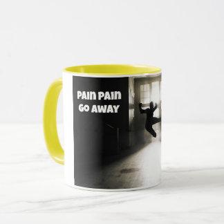 Die Schmerz-Schmerz gehen Faser Kaffee-Tasse weg Tasse