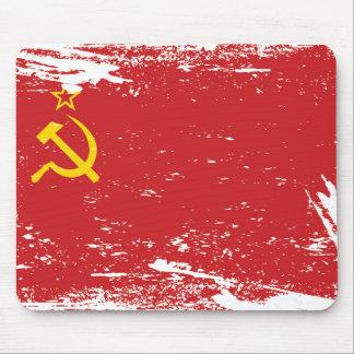 Die Schmutz-Sowjetunions-Flagge - UDSSR Mauspads