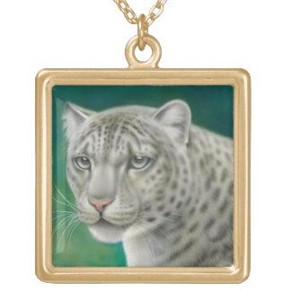 Die Schnee-Leopard-Halskette Vergoldete Kette