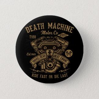 Die schnelle Todesmaschine Harley Bewegungsfahrt Runder Button 5,1 Cm