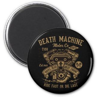 Die schnelle Todesmaschine Harley Bewegungsfahrt Runder Magnet 5,1 Cm
