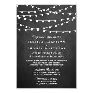 Die Schnur-Lichter auf Tafel-Hochzeits-Sammlung 12,7 X 17,8 Cm Einladungskarte