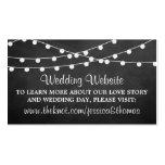 Die Schnur-Lichter auf Tafel-Hochzeits-Sammlung Visitenkarten