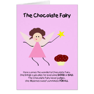 Die Schokoladen-Fee Grußkarte