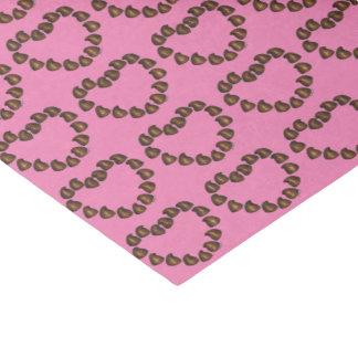 Die Schokoladen-Tropfen-Herz-Süßigkeit rosa Seidenpapier