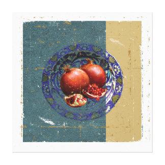 Die schöne Kunst des Granatapfels in der antiken Leinwanddruck