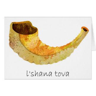 Die schöne Rosh Hashana-Jüdische Karte neuen