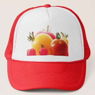 Die Schönheit der Heirloom-Tomaten Truckerkappe