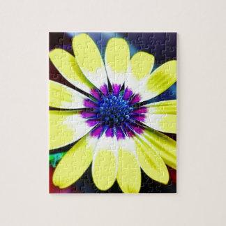 Die Schönheit von Gelbem und von Lila Puzzle