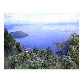Die Schönheit von See Toba Postkarte