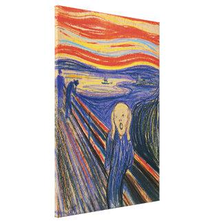 Die Schrei-Edvard Munch (Pastell 1895) hohe Qualit Galerie Gefaltete Leinwand