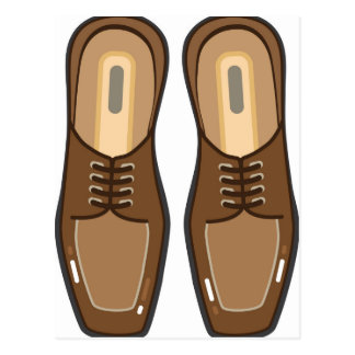 Die Schuhe des ledernen Mannes Postkarte