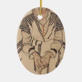 Die Schwägerin Künstlers Egon Schiele- Keramik Ornament