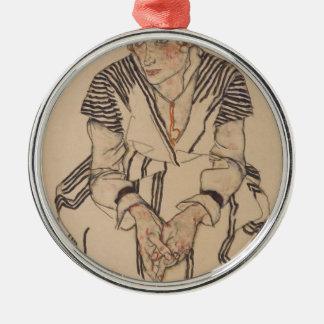 Die Schwägerin Künstlers Egon Schiele- Silbernes Ornament
