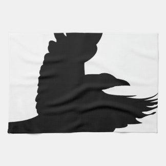 Die schwarze Krähe Geschirrtuch