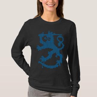 Die schwarze lange Hülse der Sisu Löwe-Frauen T-Shirt