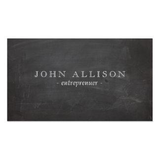 Die schwarze Tafel des coolen rustikalen Vintagen Visitenkarten