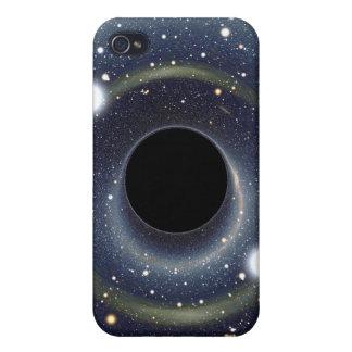 Die schwarzes Locheinstein-Ring NASA iPhone 4 Case