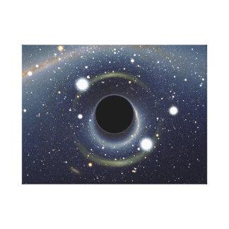 Die schwarzes Locheinstein-Ring NASA Leinwanddruck
