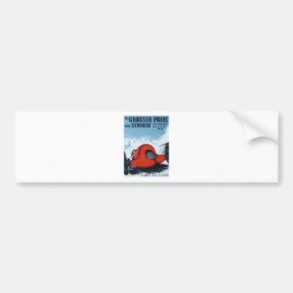 Die Schweiz 1937 Grandprix, der Plakat läuft Autoaufkleber