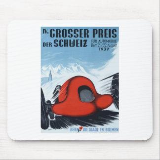 Die Schweiz 1937 Grandprix, der Plakat läuft Mauspads