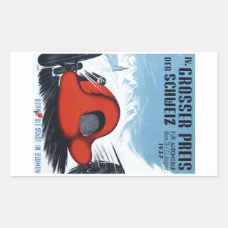 Die Schweiz 1937 Grandprix, der Plakat läuft Rechteckiger Aufkleber