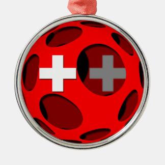 Die Schweiz #1 Rundes Silberfarbenes Ornament