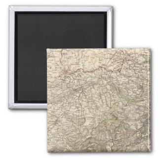 Die Schweiz-Atlas-Karte Quadratischer Magnet