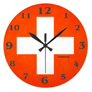 Die Schweiz-Flagge für Rund-Groß-Wand-Uhr Große Wanduhr
